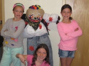 Sophie's team scarecrow